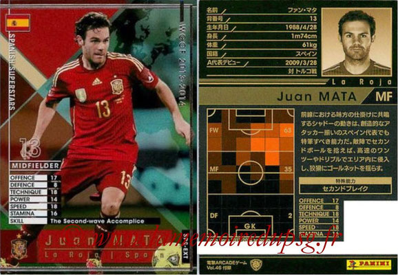 2013-14 - WCCF - N° SPS-EXT - Juan MATA (Espagne) (Spanish Superstars) (Extra)