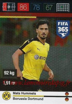 2015-16 - Panini Adrenalyn XL FIFA 365 - N° 250 - Mats HUMMELS (Borussia Dortmund) (Defensive Rock)