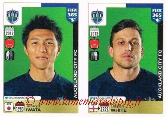 2015-16 - Panini FIFA 365 Stickers - N° 678-679 - Takuya IWATA + Darren WHITE (Auckland City FC)site
