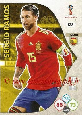2018 - Panini FIFA World Cup Russia Adrenalyn XL - N° 123 - Sergio RAMOS (Espagne)
