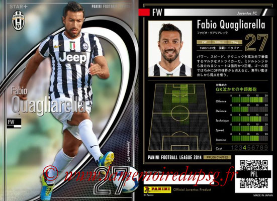 Panini Football League 2014 - PFL06 - N° 014 - Fabio QUAGLIARELLA (Juventus FC) (Star +)