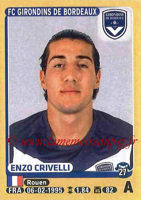 2015-16 - Panini Ligue 1 Stickers - N° 090 - Enzo CRIVELLI (FC Girondins de Bordeaux)