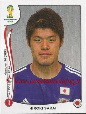 2014 - Panini FIFA World Cup Brazil Stickers - N° 249 - Hiroki SAKAI (Japon)
