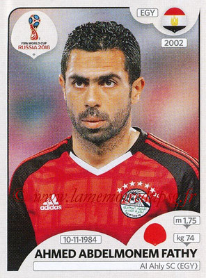 2018 - Panini FIFA World Cup Russia Stickers - N° 080 - Ahmed ABDELMONEM FATHY (Egypte)