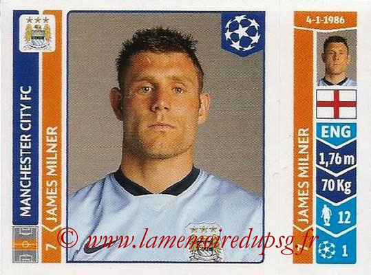 2014-15 - Panini Champions League N° 378 - James MILNER (Manchester City FC)