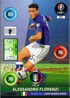 Panini Road to Euro 2016 Cards - N° 287 - Alessandro FLORENZI (Iatlie) (Dynamo)