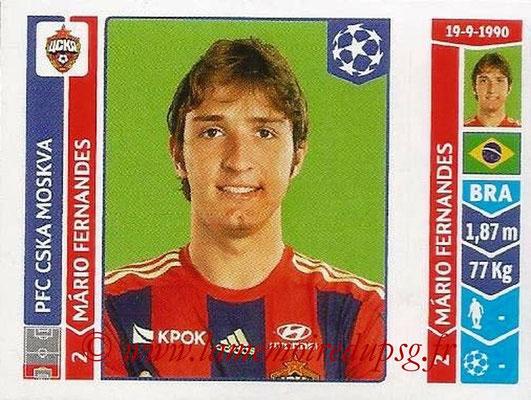 2014-15 - Panini Champions League N° 382 - Mario FERNANDEZ (PFC CSKA Moscou)