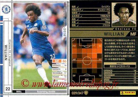 2015-16 - Panini WCCF - N° 029 - WILLIAN (Chelsea FC)