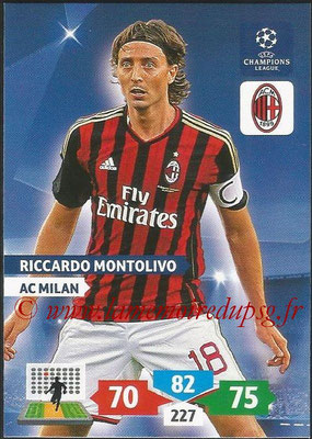 2013-14 - Adrenalyn XL champions League N° 185 - Riccardo MONTOLIVO (AC Milan)