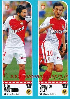 2016-17 - Panini Ligue 1 Stickers - N° 478 + 479 - João MOUTINHO + Bernardo SILVA (Monaco)