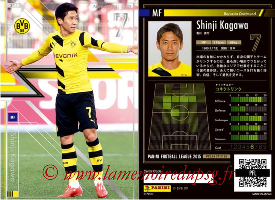 Panini Football League 2015 - PFL14 - N° 071 - Shinji KAGAWA (Borussia Dortmund) (Star)