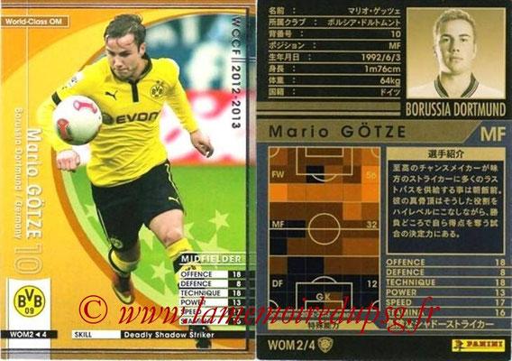 2012-13 - WCCF - N° WOM2 - Mario GÖTZE (Borussia Dortmund) (World Class OM)