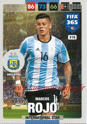 2016-17 - Panini Adrenalyn XL FIFA 365 - N° 318 - Marcos ROJO (Argentine) (International Star)