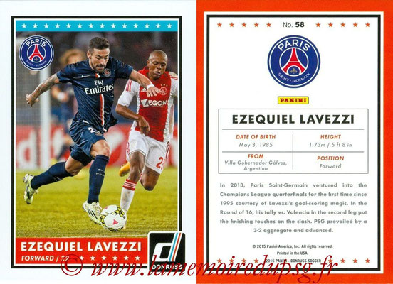 2015 - Panini Donruss Soccer - N° 058 - Ezequiel LAVEZZI (Paris Saint-Germain)