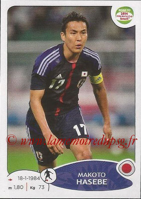 2014 - Panini Road to FIFA World Cup Brazil Stickers - N° 404 - Makoto HASEBE (Japon)