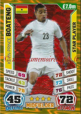 Topps Match Attax England 2014 - N° 128 - Kevin-Prince BOATENG (Ghana) (Star Player)