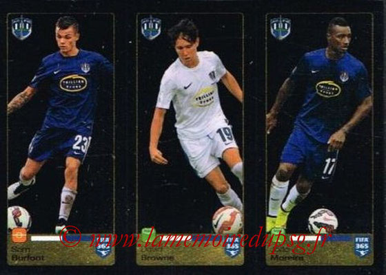 2015-16 - Panini FIFA 365 Stickers - N° 690-691-692 - Sam BURFOOT + David BROWNE + João MOREIRA (Auckland City FC)