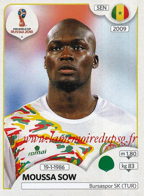 2018 - Panini FIFA World Cup Russia Stickers - N° 626 - Moussa SOW (Senegal)
