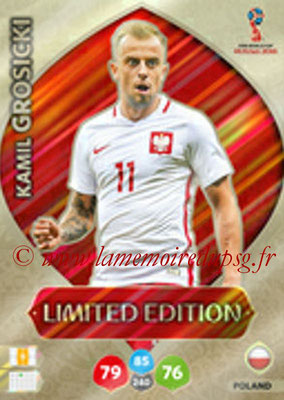 2018 - Panini FIFA World Cup Russia Adrenalyn XL - N° LE-KGR - Kamil GROSICKI (Pologne) (Limited Edition)