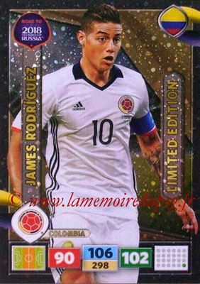 2018 - Panini Road to FIFA World Cup Russia Adrenalyn XL - N° LE-JR - James RODRIGUEZ (Colombie) (Limited Edition)