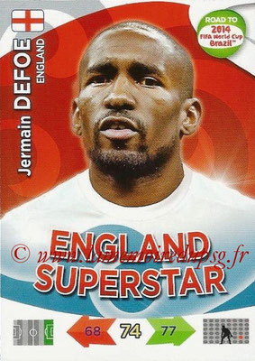 2014 - Panini Road to FIFA World Cup Brazil Adrenalyn XL - N° 072 - Jermain DEFOE (Angleterre)
