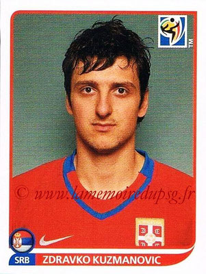 2010 - Panini FIFA World Cup South Africa Stickers - N° 306 - Zdravko KUZMANOVIC (Serbie)