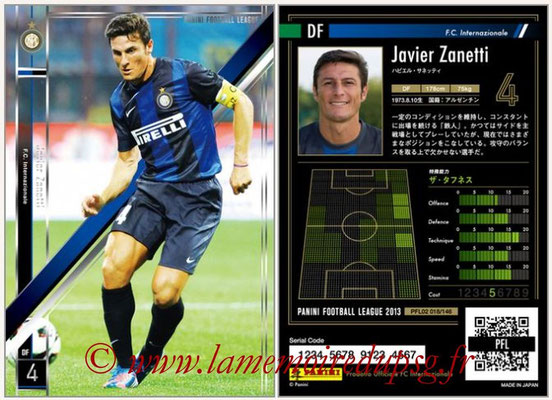 Panini Football League 2013 - PFL02 - N° 018 - Javier Zanetti ( F.C. Internazionale )