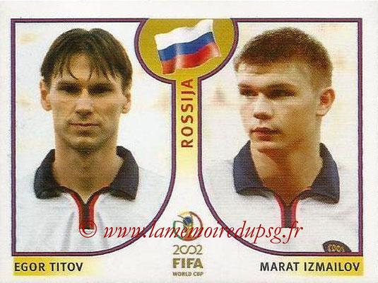 2002 - Panini FIFA World Cup Stickers - N° 529 - Egor TITOV + Marat IZMAILOV (Russie)