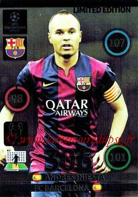 2014-15 - Adrenalyn XL champions League N° LE-AI - Andres INIESTA (FC Barcelone) (Limited Edition)