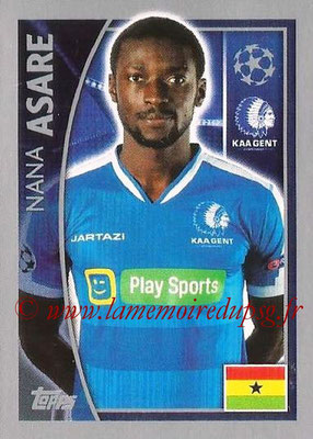 2015-16 - Topps UEFA Champions League Stickers - N° 540 - Nana ASARE (KAA Gent)