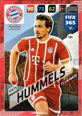 2017-18 - Panini FIFA 365 Cards - N° 161 - Mats HUMMELS (FC Bayern Munich)