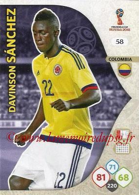 2018 - Panini FIFA World Cup Russia Adrenalyn XL - N° 058 - Davinson SANCHEZ (Colombie)