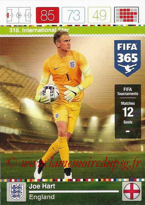 2015-16 - Panini Adrenalyn XL FIFA 365 - N° 318 - Joe HART (Angleterre) (International Star)