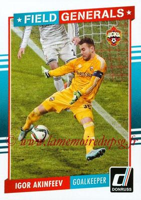 2015 - Panini Donruss Soccer - N° FG05 - Igor AKINFEEV (CSKA Moscou) (Field Generals)