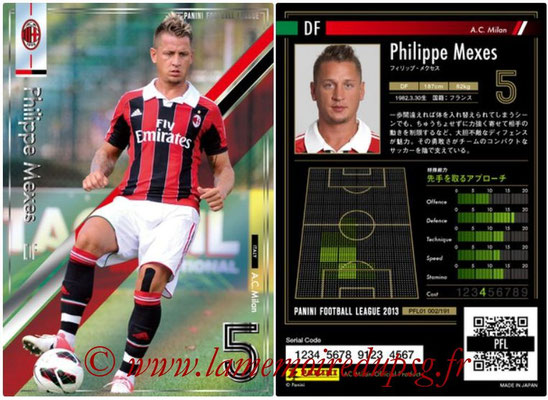Panini Football League 2013 - PFL01 - N° 002 - Philippe Mexes ( A.C. Milan )