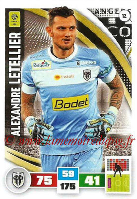 2016-17 - Panini Adrenalyn XL Ligue 1 - N° 012 - Alexandre LETELLIER (Angers)