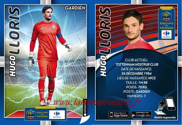 WC 2014 Collection Carrefour 3D Bleus - N° 01 - Hugo LLORIS (Tottenham)