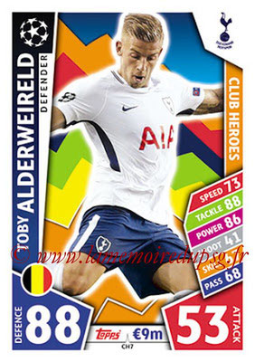 2017-18 - Topps UEFA Champions League Match Attax - N° CH07 - Toby ALDERWEIRELD (Tottenham Hotpsur) (Club Heroes)