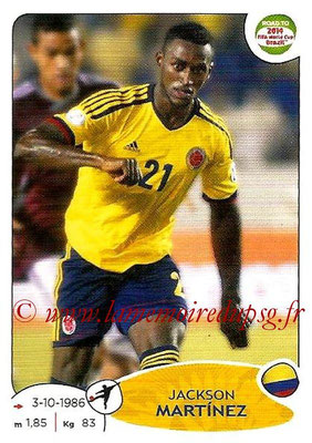 2014 - Panini Road to FIFA World Cup Brazil Stickers - N° 186 - Jackson MARTINEZ (Colombie)