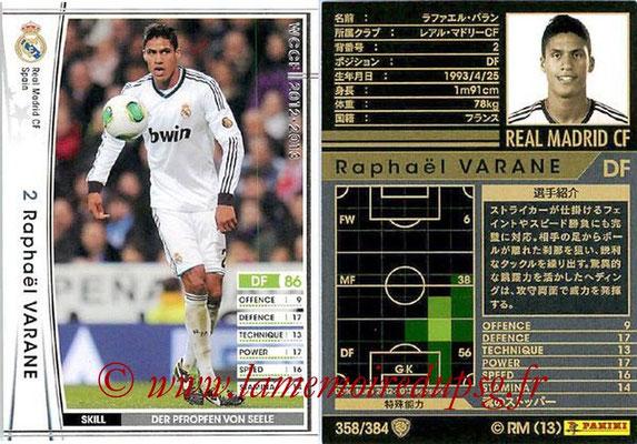 2012-13 - WCCF - N° 358 - Raphael VARANE (Real Madrid CF)