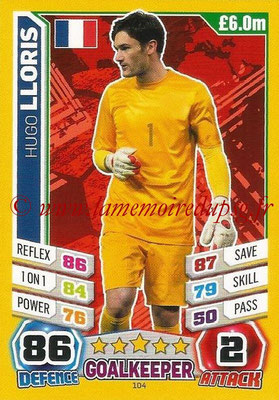 Topps Match Attax England 2014 - N° 104 - Hugo LLORIS (France)