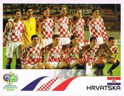 2006 - Panini FIFA World Cup Germany Stickers - N° 397 - Équipe Croatie