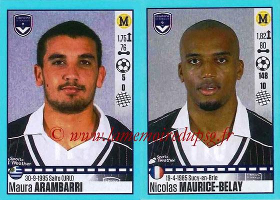 2016-17 - Panini Ligue 1 Stickers - N° 114 + 115 - Maura ARAMBARRI + Nicolas MAURICE-BELAY (Bordeaux)