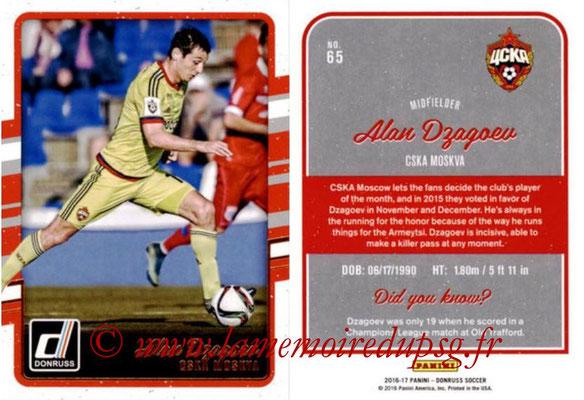 2016 - Panini Donruss Cards - N° 065 - Alan DZAGOEV (CSKA Moscou)