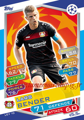 2016-17 - Topps UEFA Champions League Match Attax - N° LEV10 - Lars BENDER (Bayer 04 Leverkusen)