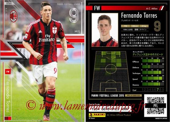 Panini Football League 2015 - PFL10 - N° 005 - Fernando TORRES (Milan AC) (Star)