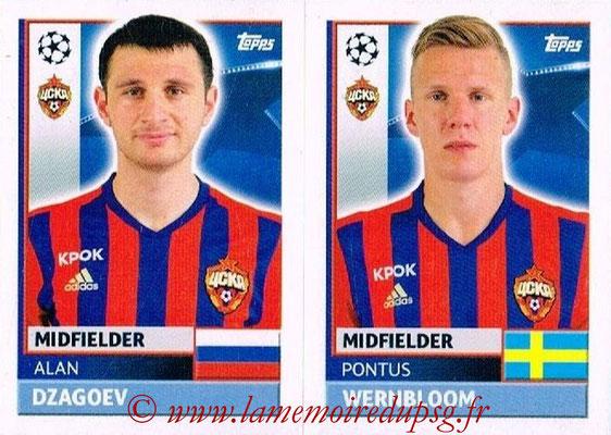 2016-17 - Topps UEFA Champions League Stickers - N° CSK 12-13 - Pontus WERNBLOOM + Alan DZAGOEV (CSKA Moscou)