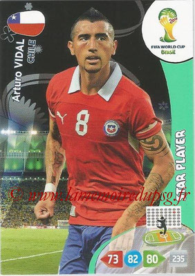 2014 - Panini FIFA World Cup Brazil Adrenalyn XL - N° 072 - Arturo VIDAL (Chili) (Star Player)