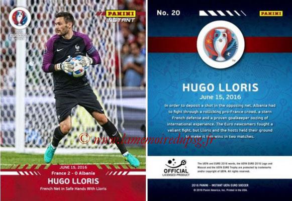 Panini Instant Euro 2016 - N° 020 - Hugo LLORIS