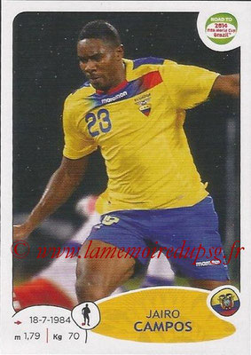 2014 - Panini Road to FIFA World Cup Brazil Stickers - N° 191 - Jairo CAMPOS (Equateur)